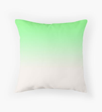 Ombre in Green by Julie Everhart Throw Pillow