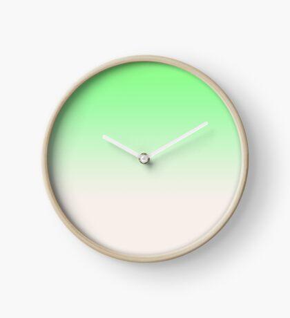 Ombre in Green by Julie Everhart Clock