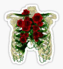 Dark Rose Ribcage Sticker