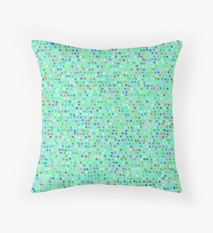 Tiny Dots by Julie Everhart Throw Pillow