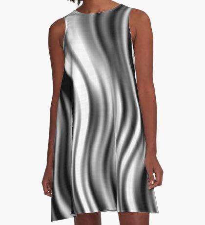 Wavy Zebra by Julie Everhart A-Line Dress