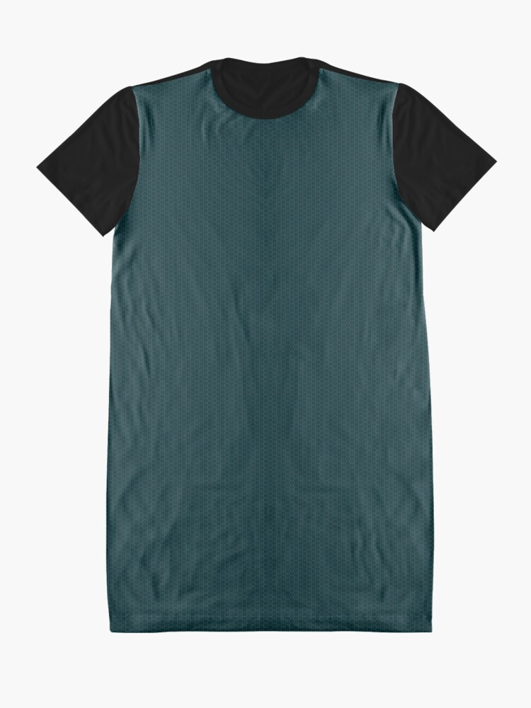 Alternate view of Deep Teal  Weave by Julie Everhart Graphic T-Shirt Dress