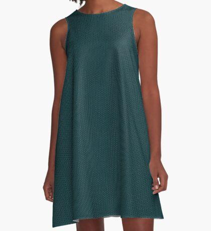 Deep Teal  Weave by Julie Everhart A-Line Dress