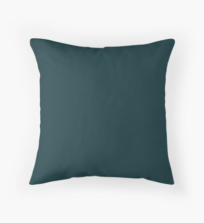 Deep Teal  Weave by Julie Everhart Throw Pillow