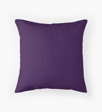 Deep Purple Weave by Julie Everhart Throw Pillow