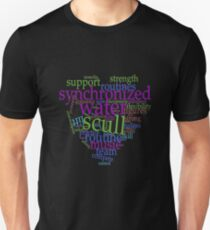 Synchronized Swimming Word Cloud Design T-Shirt