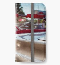 Classic American Convertible in a Drive In During Warm Summer Afternoon iPhone Wallet/Case/Skin