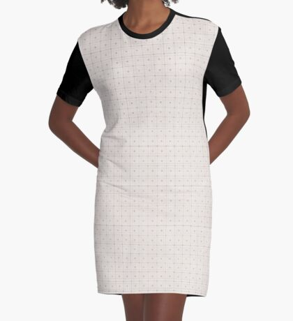 Classic Beige with Polka Dots Graphic T-Shirt Dress