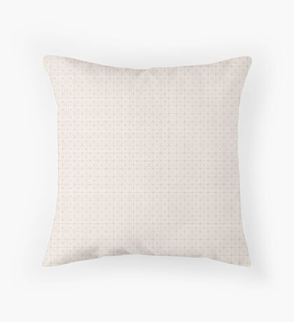 Classic Beige with Polka Dots Throw Pillow