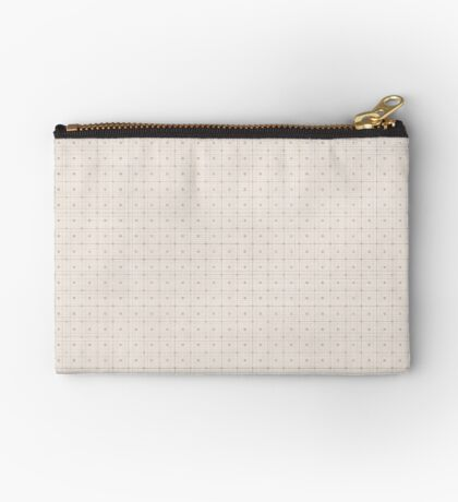 Classic Beige with Polka Dots Zipper Pouch