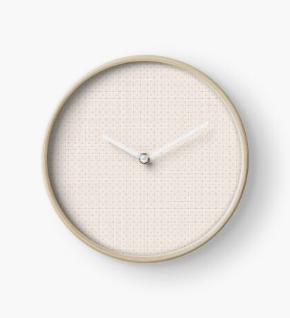 Classic Beige with Polka Dots Clock