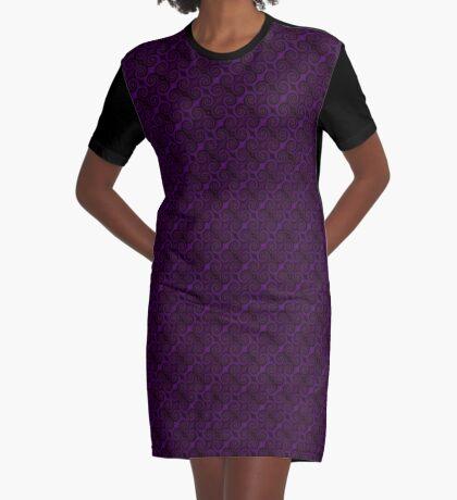Purple Swirl by Julie Everhart Graphic T-Shirt Dress