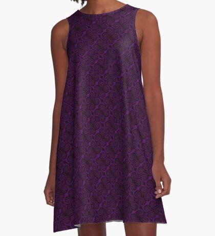 Purple Swirl by Julie Everhart A-Line Dress