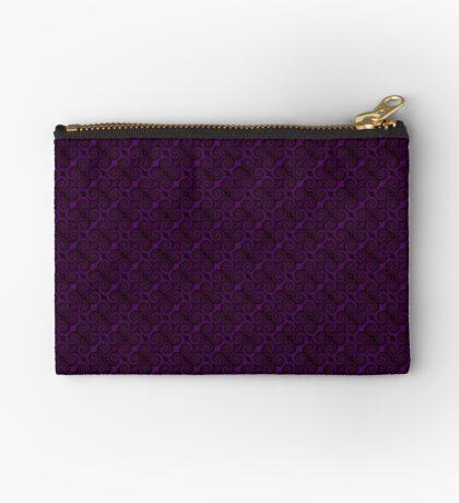 Purple Swirl by Julie Everhart Zipper Pouch