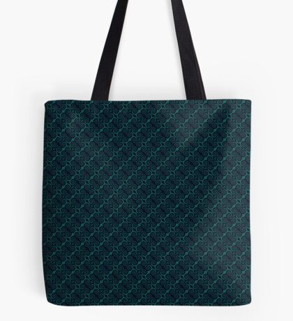 Teal & Black Swirl Tote Bag