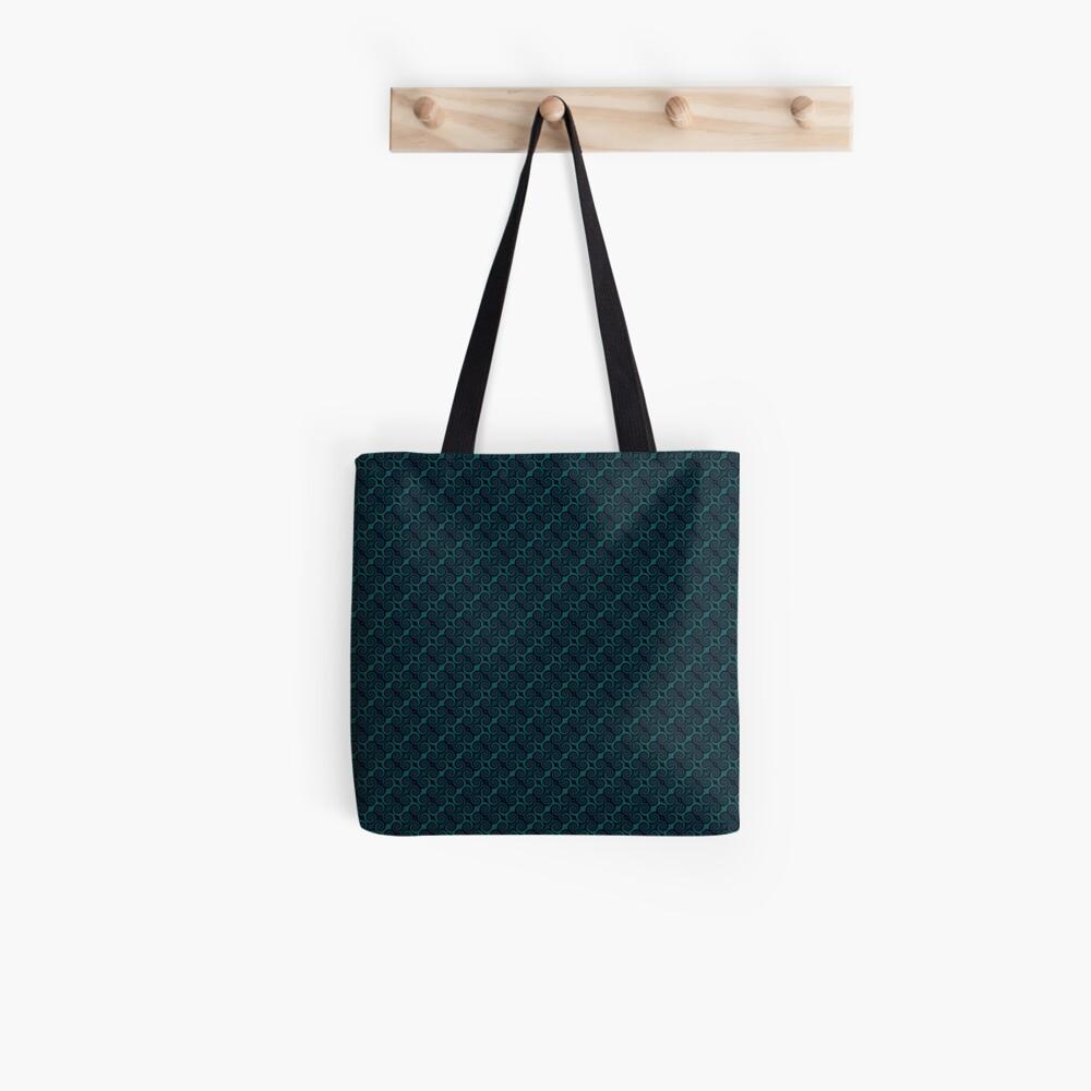 Teal & Black Swirl Tote Bag