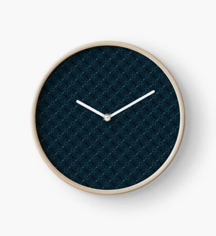 Teal & Black Swirl Clock