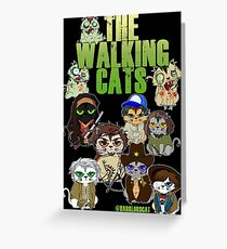THE WALKING CATS Greeting Card