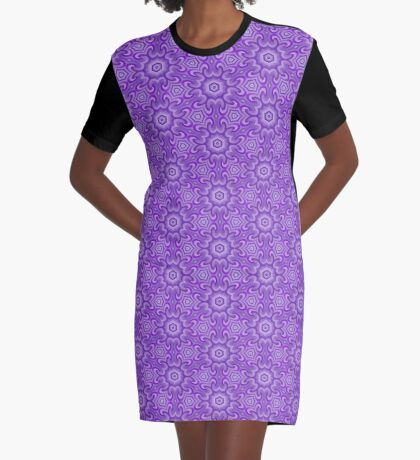 Lilac Splendor Flower Pattern by Julie Everhart Graphic T-Shirt Dress