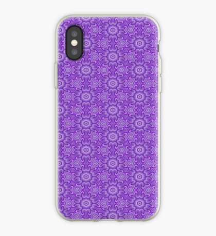 Lilac Splendor Flower Pattern by Julie Everhart iPhone Case