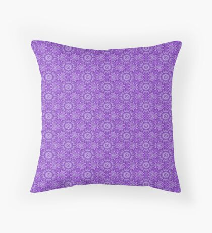 Lilac Splendor Flower Pattern by Julie Everhart Throw Pillow