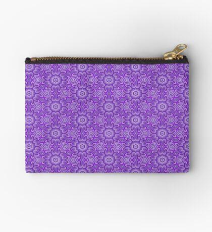 Lilac Splendor Flower Pattern by Julie Everhart Zipper Pouch