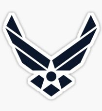 United States Air Force Logo, Blue Sticker