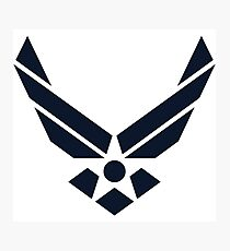 United States Air Force Logo, Blue Photographic Print