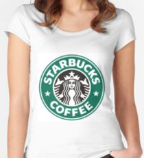 Starbucks coffee logo Women's Fitted Scoop T-Shirt