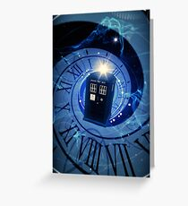 Police Box Time Travel Greeting Card