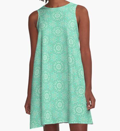 Seafoam Green Splendor by Julie Everhart A-Line Dress