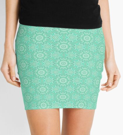 Seafoam Green Splendor by Julie Everhart Mini Skirt