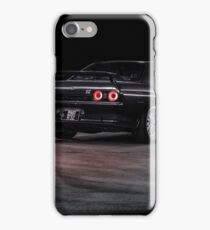 Black R32 Nissan Skyline GTR - Lightpainted iPhone Case/Skin