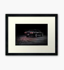 Black R32 Nissan Skyline GTR - Lightpainted Framed Print