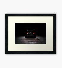 Black R32 Nissan Skyline GTR - Rear Lightpainted Framed Print