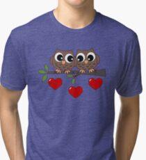 2 Owls My Valentine Day Tri-blend T-Shirt