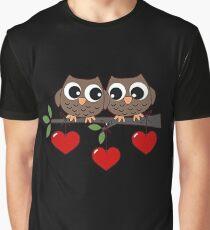 2 Owls My Valentine Day Graphic T-Shirt