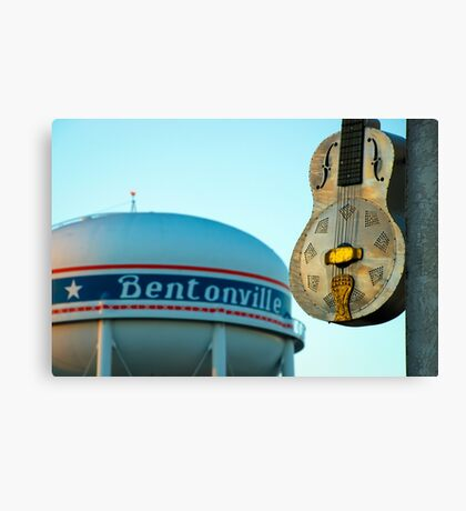 Meteor Guitar Gallery - Historic Downtown Bentonville Arkansas Canvas Print