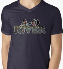 A-O RIVER Mens V-Neck T-Shirt