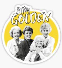 Stay Golden Sticker