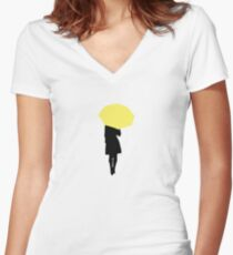 Yellow Umbrella - HIMYM Women's Fitted V-Neck T-Shirt