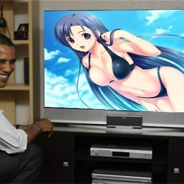 Obama watching anime de Sosfia