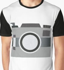 Retro Old-time Camera, Gray Graphic T-Shirt