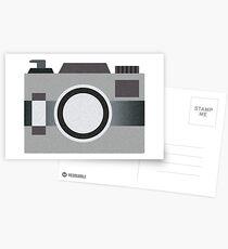 Retro Old-time Camera, Gray Postcards