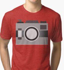 Retro Old-time Camera, Gray Tri-blend T-Shirt