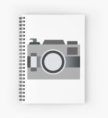 Retro Old-time Camera, Gray Spiral Notebook