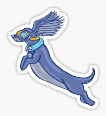 If Dogs Could Fly Sticker