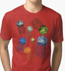 Jellyfish Fields Tri-blend T-Shirt