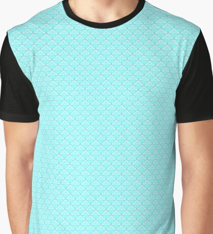 Aqua Blue Graphic T-Shirt