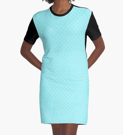 Aqua Blue Graphic T-Shirt Dress